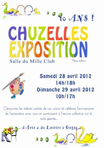 Exposition,peintures,chuzelles,anniversaire